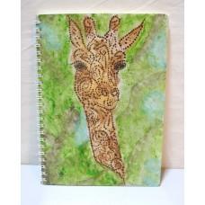 Блокнот із жирафом, А5, авторське оформлення, лінія, недатований