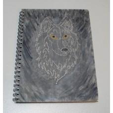 Блокнот із волком, А5, авторське оформлення, лінія, недатований