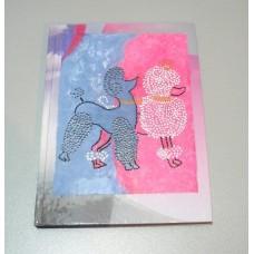 Блокнот із пуделями, А5, авторське оформлення, клітинка