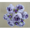 Букет троянд лавандового кольору, 7 штук, ручна робота