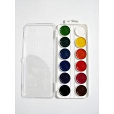 Набір акварелі, 12 кольорів, для хлопців
