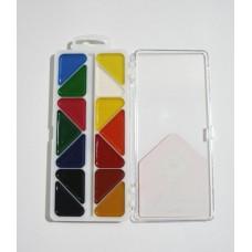 Акварель у наборі на 14 кольорів у пластикову пеналі