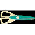 Ножиці з фігурним різом у вигляді хвилі