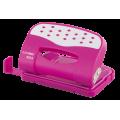 Діркопробивач, 12 аркушів, рожевий