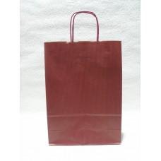 Пакет подарунковий, крафт, бордо