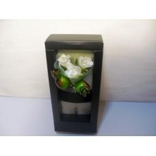 Бутоньєрка з трояндами білими, 11 см, ручна робота