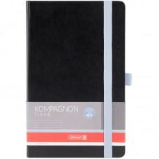 Книжка записна, Brunnen, Компаньйон, А5, лінія, обкладинка чорна зі світло-блакитним зрізом, тверда палітурка