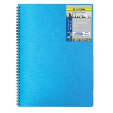 Зошит А4 на пружині Металік синій